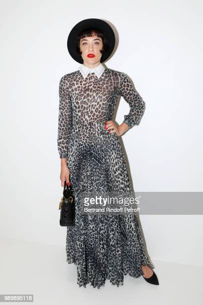 Mia Moretti attends the Christian Dior Haute Couture Fall Winter 2018/2019 show as part of Paris Fashion Week on July 2 2018 in Paris France