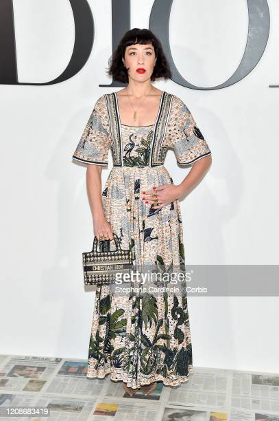 Mia Moretti attends the Dior show as part of the Paris Fashion Week Womenswear Fall/Winter 2020/2021 on February 25 2020 in Paris France