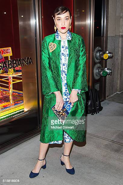 Mia Moretti attends the Dolce Gabbana Pyjama Party at Dolce Gabbana on March 15 2016 in New York City