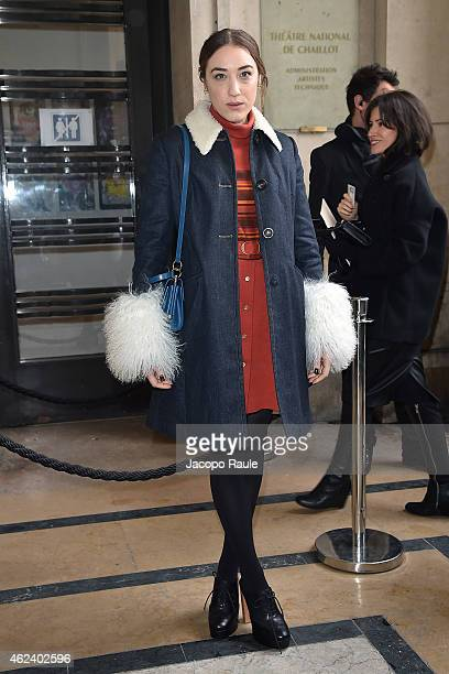 Mia Moretti attends the Elie Saab show as part of Paris Fashion Week Haute Couture Spring/Summer 201 on January 28 2015 in Paris France
