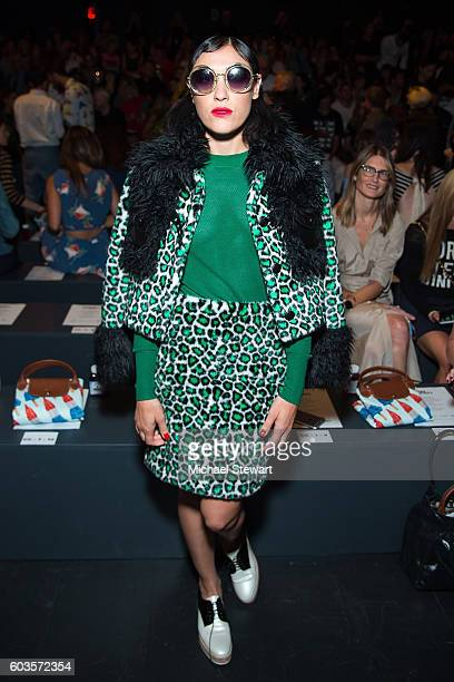 Mia Moretti attends the Jeremy Scott fashion show during September 2016 New York Fashion Week The Shows at The Arc Skylight at Moynihan Station on...