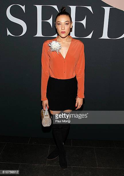 Mia Moretti attends the Miu Miu Tales 11 screening event during New York Fashion Week at EN Japanese Brasserie on February 16 2016 in New York City