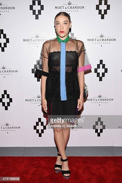 Mia Moretti attends the Moet Nectar Imperial Rose x Marcelo Burlon Launch Event on June 3 2015 in New York City