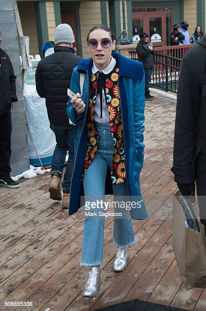Mia Moretti is seen around town at the Sundance Film Festival on January 24 2016 in Park City Utah