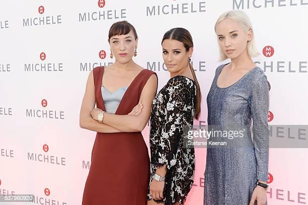 Mia Moretti Lea Michele and Margot Moe attend Michele Watches And Lea Michele Host Leading Lady Event on June 3 2016 in Las Vegas Nevada