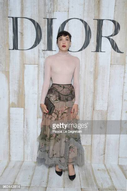 Mia Moretti poses at a photocall during Christian Dior Couture S/S19 Cruise Collection on May 25 2018 in Chantilly France
