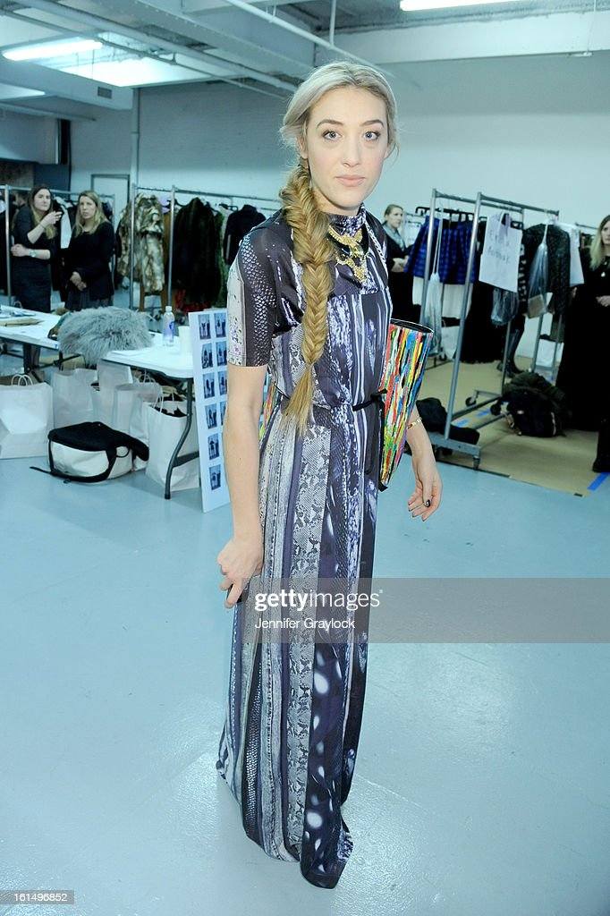 DJ Mia Moretti poses at the Alice + Olivia By Stacey Bendet Fall 2013 fashion show presentation during Mercedes-Benz Fashion Week at Highline Stages on February 11, 2013 in New York City.