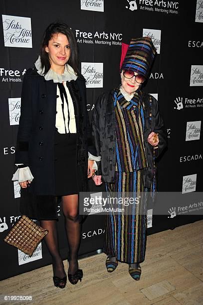 Mia Morgan and Zelda Kaplan attend SAKS FIFTH AVENUE and ESCADA honor ESCADA creative director DAMIANO BIELLA benefitting Free Arts NYC at Saks Fifth...
