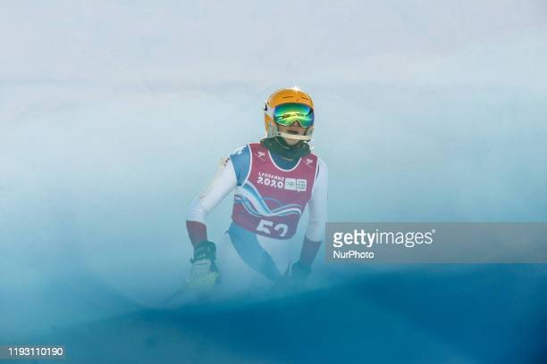 Mia Nuriah FREUDWEILER from Pakistan competes in Women's Alpine Combined slalom during Winter Youth Olympic Games Lausanne 2020 in Les Diablerets...