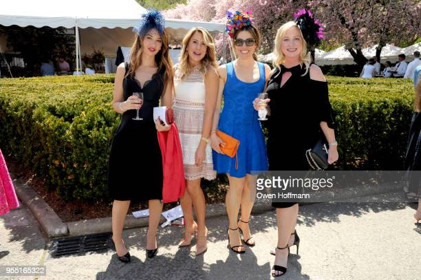 Mia Rowe Angela Fort AnnaClaire SalamaCaro and Bess Landa attend 36th Annual Frederick Law Olmsted Awards Luncheon Central Park Conservancy at The...