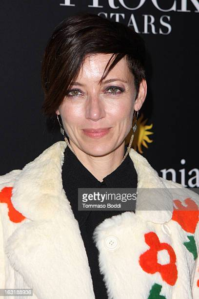 Mia Sara attends the LAFrock Stars Los Angeles screening and party held at the LACMA on March 5 2013 in Los Angeles California