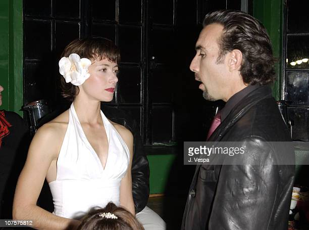 Mia Sara Francesco Quinn pose at the 25th Anniversary of The Muppet Show at The Palace in Hollywood California