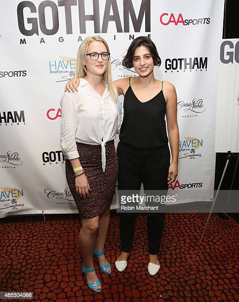 Mia Schmidt and Stella Xhiku attend the Gotham Magazine CAA Sports Tennis Kick Off With Tomas on August 26 2015 in New York City