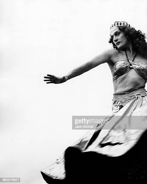 "Mia Slavenska performing ""Salome"" at Jacob's Pillow in 1950."
