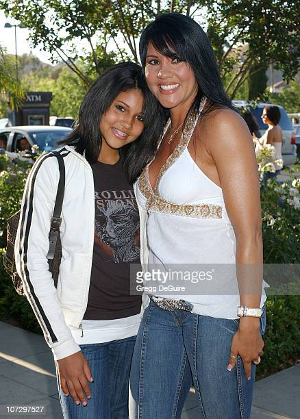 Mia St John and daughter Paris during Lisa Rinna and Harry Hamlin Celebrate the Opening of the Second belle gray Boutique Arrivals at belle gray in...