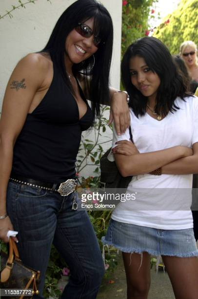 Mia St John and daughter Paris during W Hollywood Yard Sale Presented by W Magazine and Guess to Benefit Clothes Off Our Back in Brentwood California...