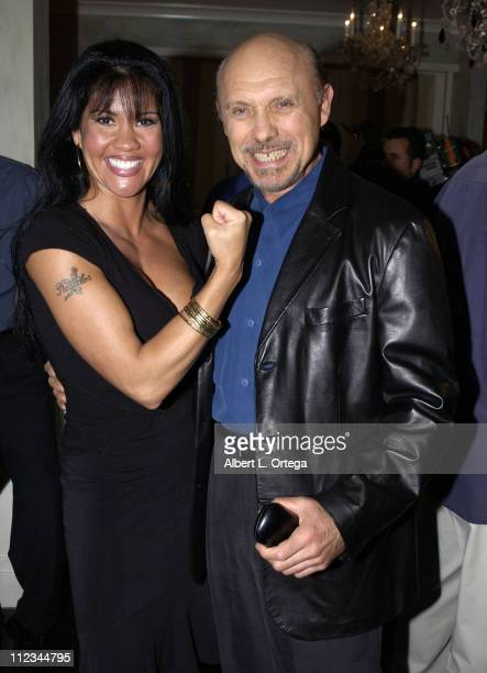 Mia St John and Hector Elizondo during The 17th Annual Imagen Awards Nominations at Madre's Restaurant in Pasadena California United States
