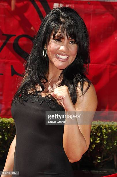 Mia St John boxer during 2006 ESPY Awards Arrivals at Kodak Theatre in Los Angeles California United States