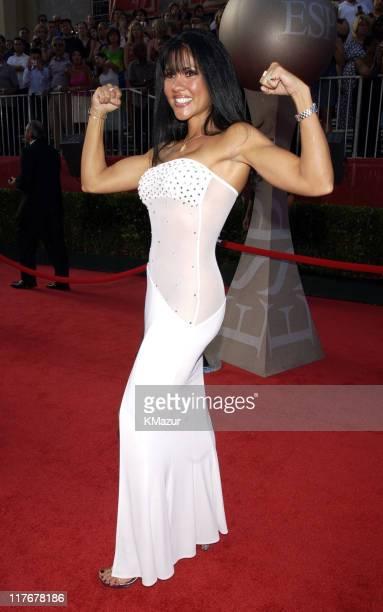 Mia St John during 2002 ESPY Awards Arrivals at The Kodak Theater in Hollywood California United States