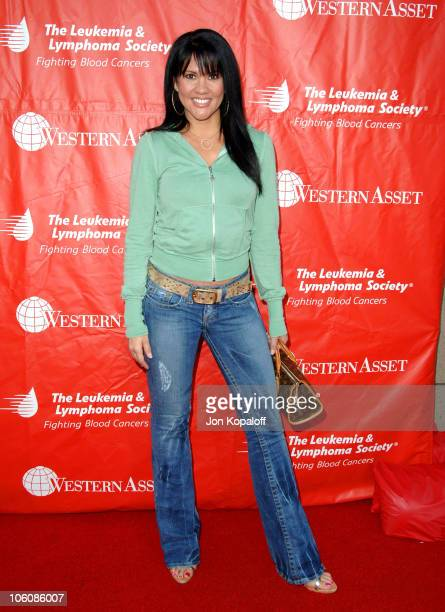 Mia St John during 2nd Annual Celebrity Rock'N Bowl Arrivals at Lucky Strikes Lanes in Hollywood California United States