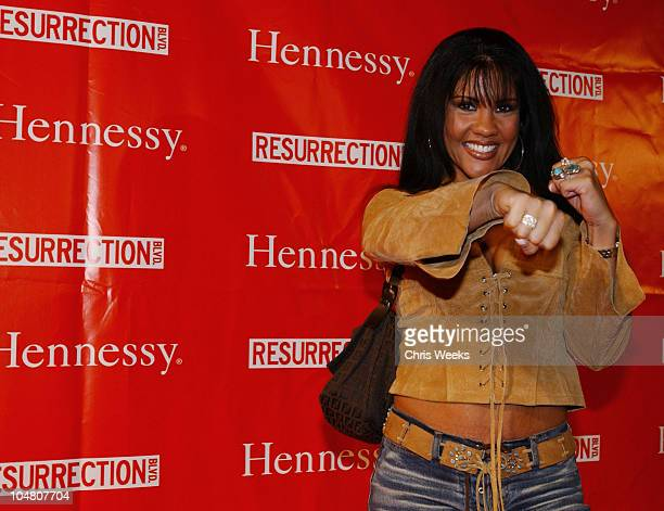 Mia St John during Resurrection Blvd Celebrates its 3rd Season Hosted by Hennessy Cognac with a $10000 Donation to AIDS Charity Las Memorias at Park...