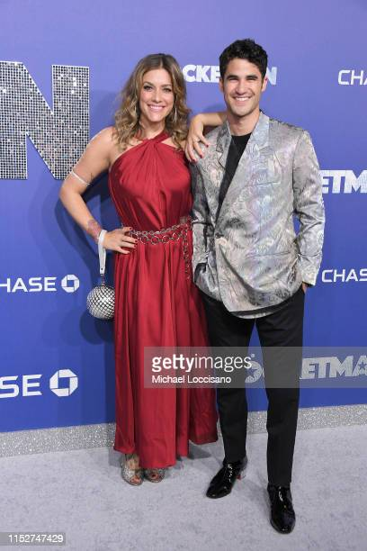 Mia Swier and Darren Criss attend the New York premiere of Rocketman at Alice Tully Hall on May 29 2019 in New York City