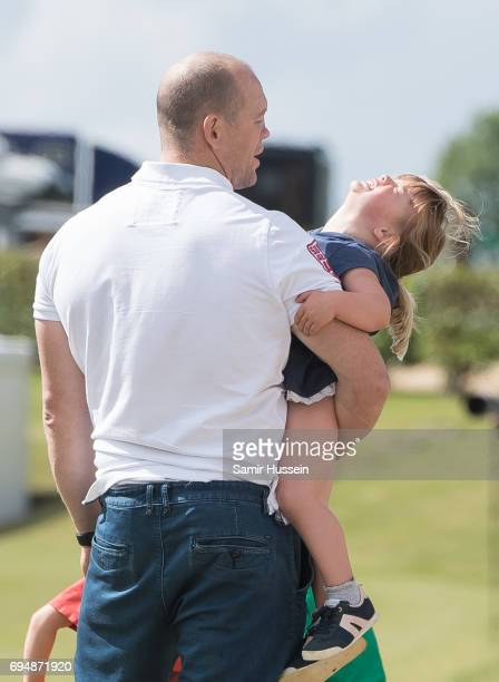 Mia Tindall and Mike Tindall attend the Maserati Royal Charity Polo Trophy at Beaufort Polo Club on June 11 2017 in Tetbury England