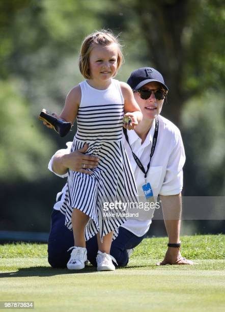 Mia Tindall and Zara Tindall during the 2018 'Celebrity Cup' at Celtic Manor Resort on June 30 2018 in Newport Wales