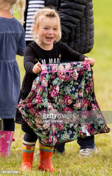 Mia Tindall at the Whatley Manor Horse Trials at Gatcombe Park on September 9 2017 in Stroud England