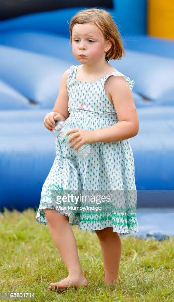 Mia Tindall attends day 1 of the 2019 Festival of British Eventing at Gatcombe Park on August 2, 2019 in Stroud, England.