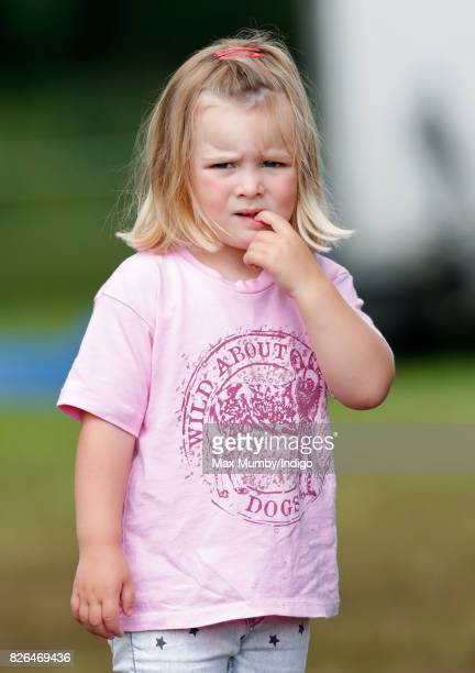 Mia Tindall attends day 1 of the Festival of British Eventing at Gatcombe Park on August 4 2017 in Stroud England