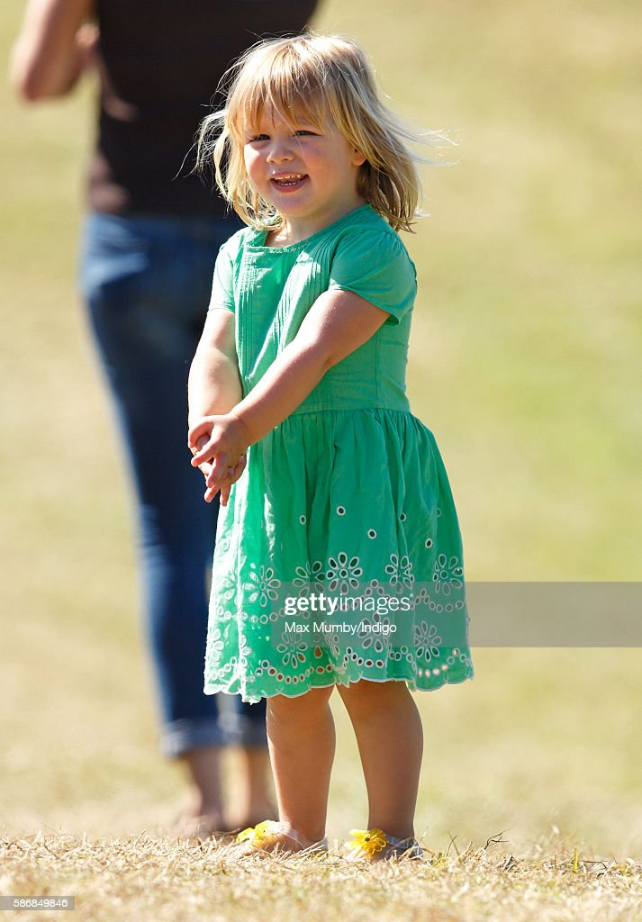 Mia Tindall attends day 2 of the Festival of British Eventing at Gatcombe Park on August 6, 2016 in Stroud, England.