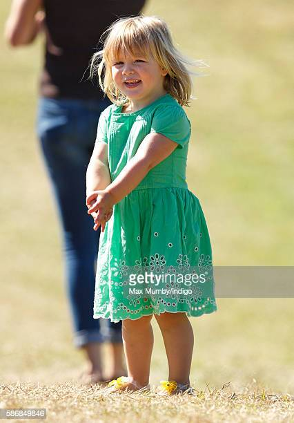 Mia Tindall attends day 2 of the Festival of British Eventing at Gatcombe Park on August 6 2016 in Stroud England