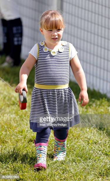 Mia Tindall attends day 2 of the Festival of British Eventing at Gatcombe Park on August 5 2017 in Stroud England