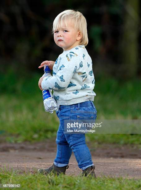 Mia Tindall attends day 2 of the Whatley Manor International Horse Trials at Gatcombe Park on September 12 2015 in Stroud England