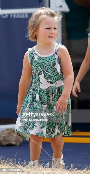 Mia Tindall attends day 3 of The Festival of British Eventing at Gatcombe Park on August 5 2018 in Stroud England
