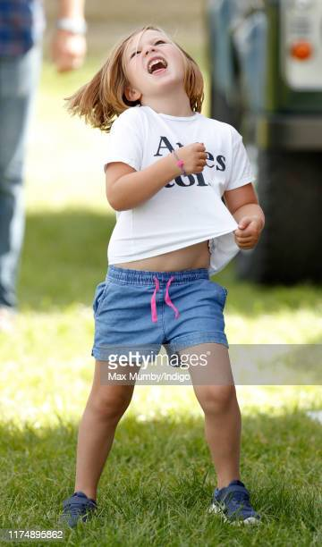 Mia Tindall attends day 3 of the Whatley Manor Gatcombe International Horse Trials at Gatcombe Park on September 15 2019 in Stroud England