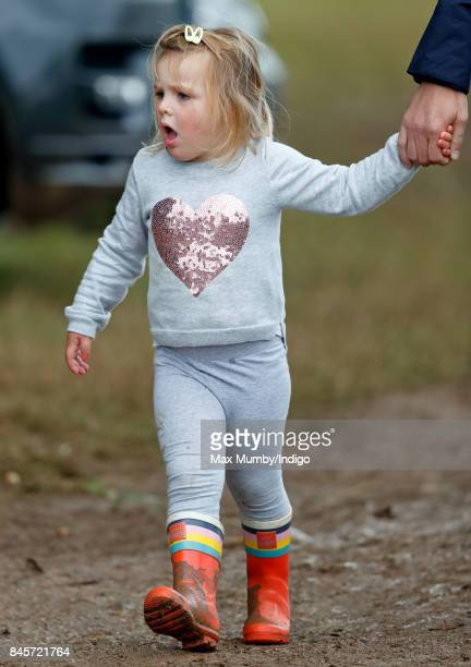 Mia Tindall attends day 3 of the Whatley Manor Horse Trials at Gatcombe Park on September 10 2017 in Stroud England