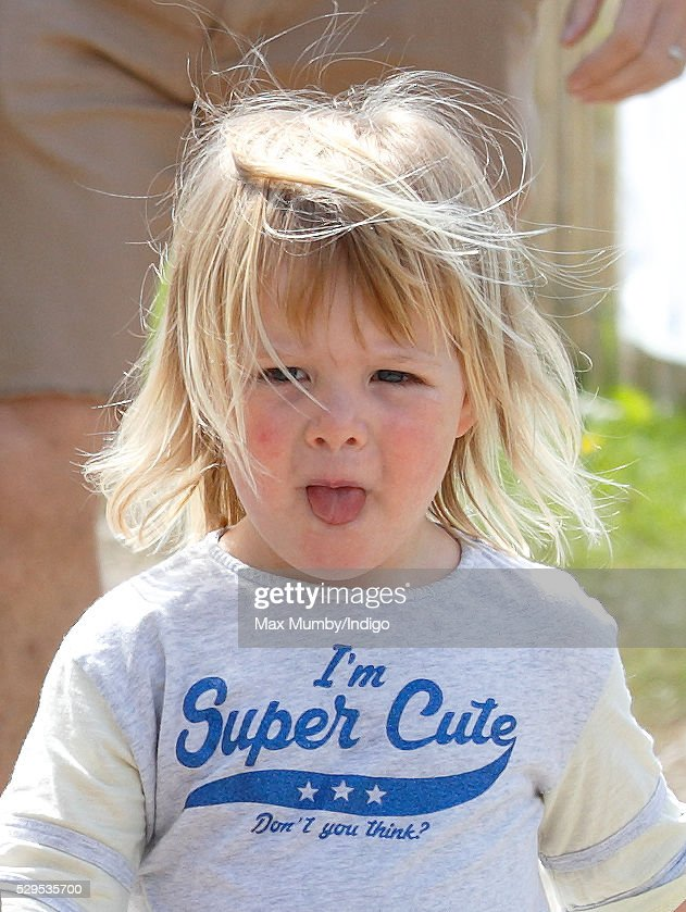 Mia Tindall attends the Badminton Horse Trials on May 8, 2016 in Badminton, England.