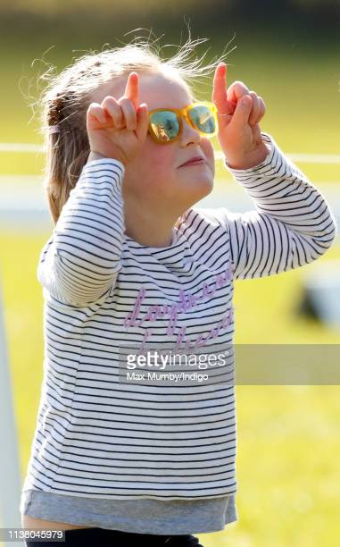 Mia Tindall attends the Gatcombe Horse Trials at Gatcombe Park on March 24, 2019 in Stroud, England.