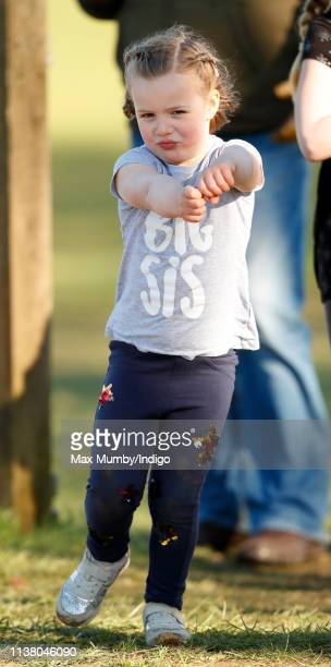 Mia Tindall attends the Gatcombe Horse Trials at Gatcombe Park on March 24 2019 in Stroud England