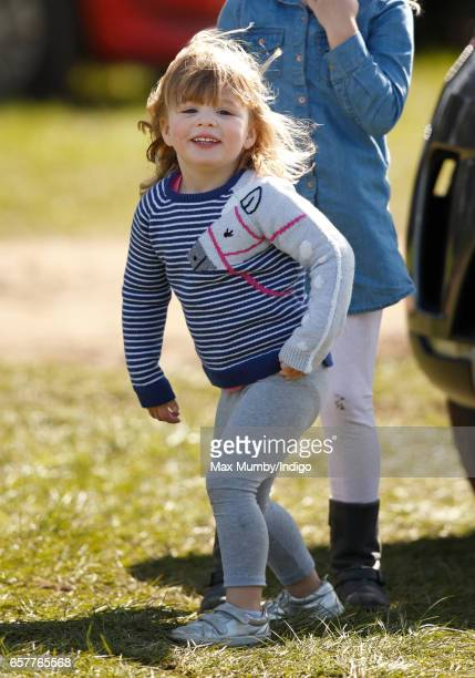 Mia Tindall attends the Gatcombe Horse Trials at Gatcombe Park on March 25, 2017 in Stroud, England.