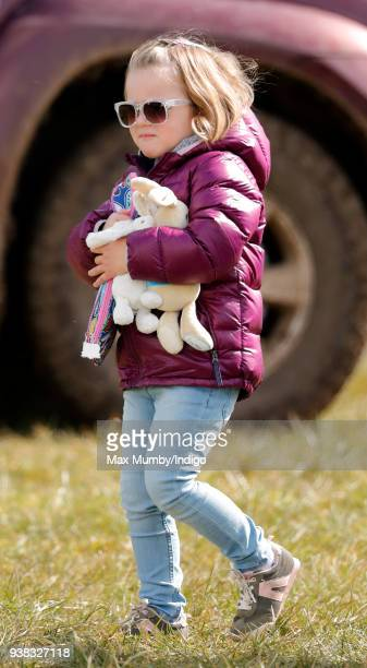 Mia Tindall attends the Gatcombe Horse Trials at Gatcombe Park on March 25 2018 in Stroud England