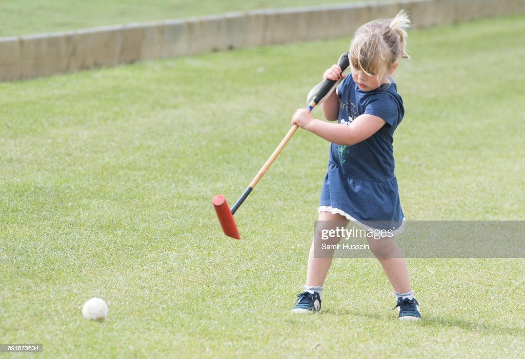 Mia Tindall attends the Maserati Royal Charity Polo Trophy at Beaufort Polo Club on June 11, 2017 in Tetbury, England.