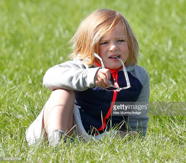 Mia Tindall attends the Whatley Manor Horse Trials at Gatcombe Park on September 7 2018 in Stroud England