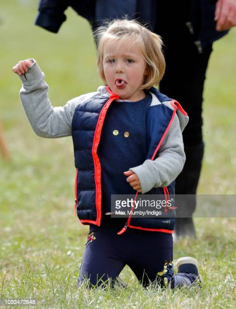 Mia Tindall attends the Whatley Manor Horse Trials at Gatcombe Park on September 8 2018 in Stroud England