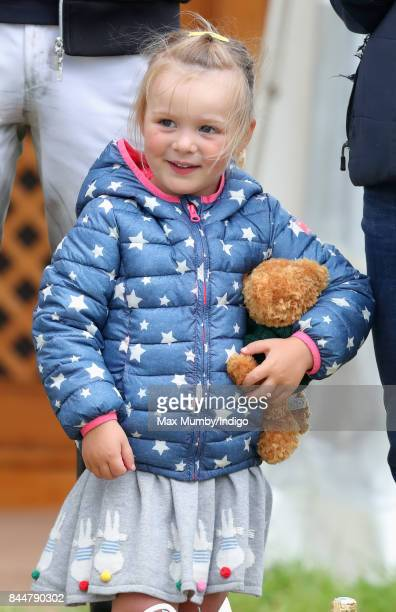 Mia Tindall attends the Whatley Manor Horse Trials at Gatcombe Park on September 8 2017 in Stroud England