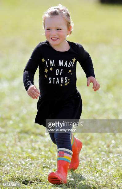 Mia Tindall attends the Whatley Manor Horse Trials at Gatcombe Park on September 9 2017 in Stroud England