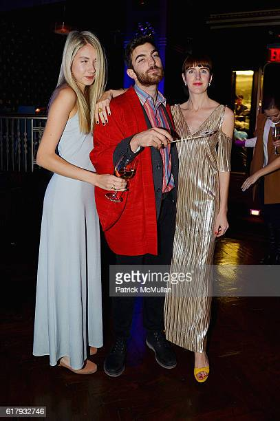 Mia Trak Max Campbell and Siobhan Bohnacher attend the Aperture Foundation 2016 Fall Benefit at The Edison Ballroom on October 24 2016 in New York...