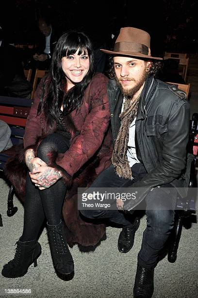 Mia Tyler and Jesse Kotansky attend Tommy Hilfiger Presents Fall 2012 Women's Collection at the Park Avenue Armory at Park Avenue Armory on February...